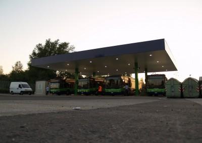 CNG πρατήριο καυσίμων λεωφορείου